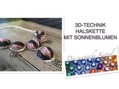 Nespresso Kapsel Schmuck Anleitung - 3D-Technik Halskette - die magische (Kaffee)-Kapsel