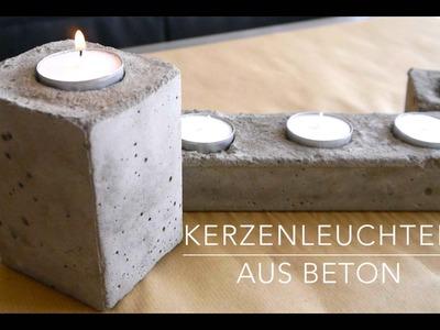 DIY★ Beton Kerzenständer Anleitung Kinderleicht