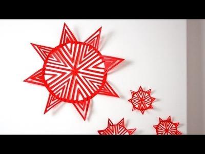 DIY Papier-Weihnachtsstern schneiden Teil 1. by Lucky Beetle