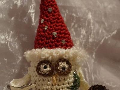 DIY Zipfel Eule Weihnachten Dekoration