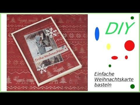 Einfache Weihnachtskarte selber basteln DIY [deutsch]