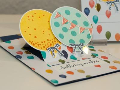 Ziehkarte zum Geburtstag - Stampin' Up!