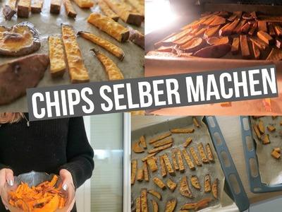 CHIPS selber machen.Süßkartoffelchips | Hannah
