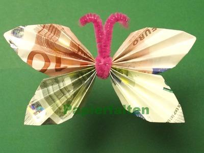 Geldscheine falten, Geldgeschenke: Schmetterling