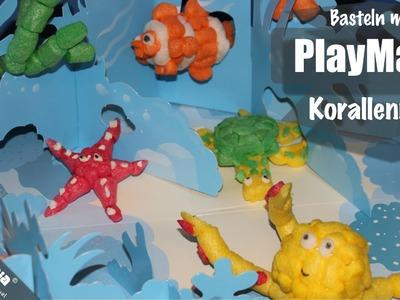 Basteln mit PlayMais - Unterwasserlandschaft. Korallenriff. World sea