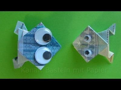 Geldscheine falten Frosch - Originelle Geldgeschenke basteln z.B. Hochzeit