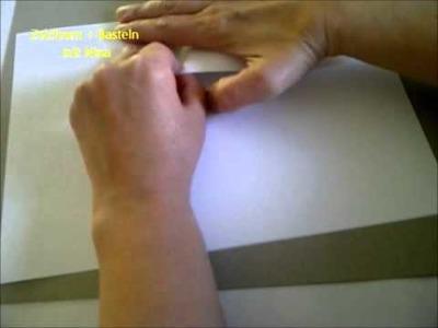 Quadrat schneiden ohne Papier zu falten.