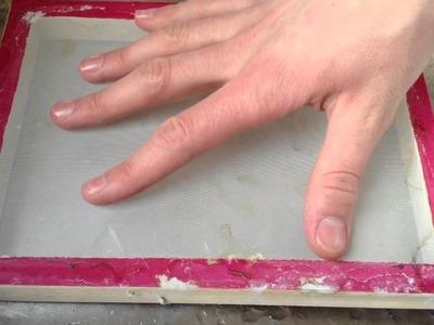 Wie man Papier selber machen kann - Papier schöpfen