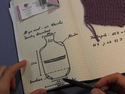 Projekt: Stricken einer Wärmflaschenhülle Teil 2 - Zunahme