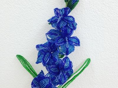 Gladiolen aus Perlen. Teil 1.2. Perlenblumen