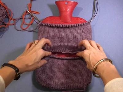 Projekt: Stricken einer Wärmflaschenhülle Teil 4 - Abnahme und Fertigstellung