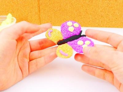 Wolkenschleim Brosche - Wir machen eine Schmetterlingsbrosche aus Wolkenschleim! | Foam Clay