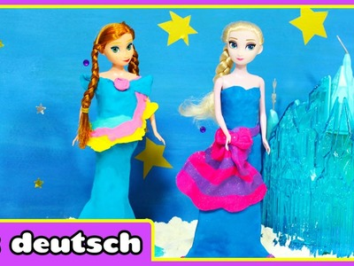 Disney Gefrorene Eiskönigin Elsa Kleid mit Knete - Playdoh Dress For Frozen Ice Queen Elsa | Knete