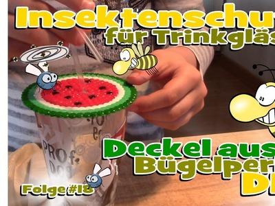 DIY Insektenschutz für Trinkgläser - Basteln mit Bügelperlen