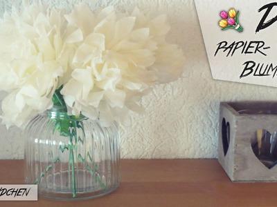 DIY Papierblumen aus Servietten   Bastelmädchen