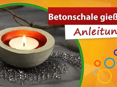 ♥ Teelicht Betonschale basteln ♥ Einfache Anleitung Beton gießen - trendmarkt24