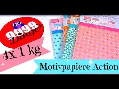 4x1kg Motvipapiere von meinem Action Haul | Video für Papierliebhaber