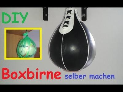 DIY Boxbirne für zu Hause selber bauen. Speedball. Punchingball selber machen