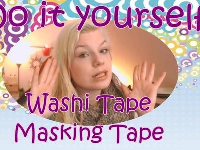 DIY Washi Tape selber machen. DIY. Buntes Klebeband