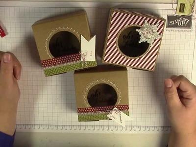 Tutorial: Katalogschätze - Sandfarbene Geschenkboxen von Stampin' Up! verschönern