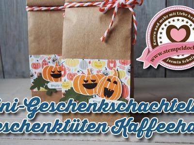 """Tutorial: Mini-Geschenkschachteln und """"Geschenktüten Kaffeehaus"""" von Stampin' Up!"""