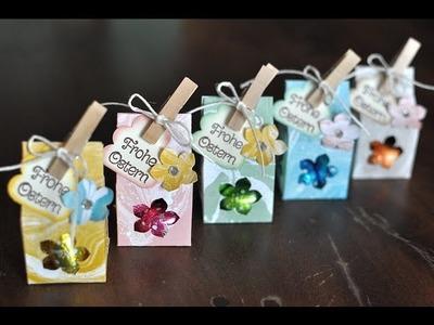 Tutorial: Mini-Milchkarton für Schokoeier mit Produkten von Stampin' Up!