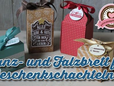Tutorial: Stanz- und Falzbrett für Geschenkschachteln.Gift Box Punchboard von Stampin' Up!