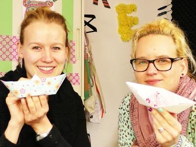 DIY Inspiration NEUE Bastel Challenge | Wer faltet das beste Papierschiff? Wer ist schneller?