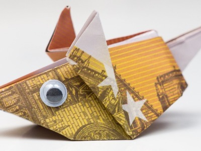 Geldgeschenk Idee: Maus falten, Origami Anleitung