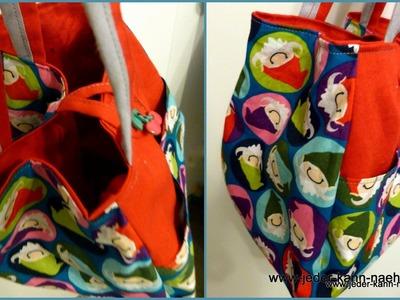Kleine Tasche nähen - Tulpentasche mit Schnittmuster
