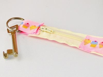 DIY Schlüsselanhänger Geheimfach nähen | mit Platz für Geldscheine oder Gutscheine | Idee Anfänger
