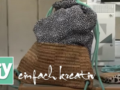 Turnbeutel mit Korkboden | DIY einfach kreativ