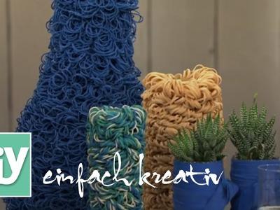 Gummi-Vasen für den Frühling | DIY einfach kreativ