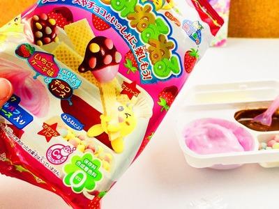 Popin Cookin' DIY Süßigkeiten Kracie | Erdbeerkuchen Schoko & Streusel | DIY Candy