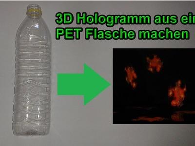 3D Hologramm aus Pet Flasche selber bauen – DIY 3 d Projektor mit Plastikflasche & Smartphone machen