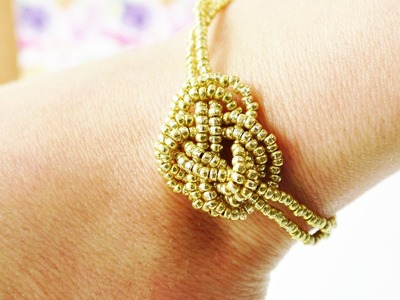 DIY Armband - Toller SOMMER Schmuck | Ethno, Indie, Boho & Coachella Armband in Gold | Trend Idee