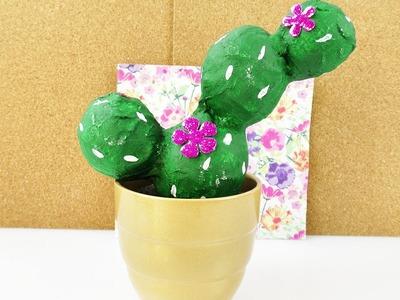 DIY Kaktus aus Gips | Coole Pflanzen Deko für die Fensterbank selber machen | süße Zimmerdeko