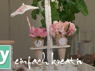 Eiswaffel-Etagere| DIY einfach kreativ