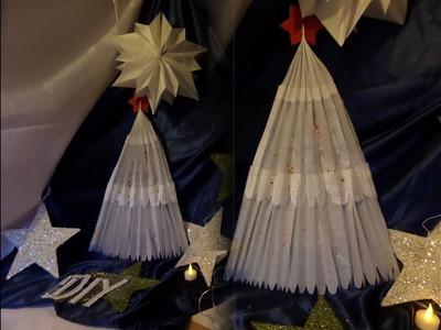 DIY: Hänge Weihnachtsbaum aus Butterbrotpapier BASTELN  by kekaplauderei