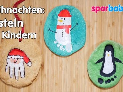 DIY Weihnachten basteln mit Kindern - Salzteigbilder