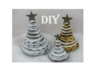 DIY: Weihnachtsbaum aus Wellpappe. Christmas tree made out of corrugated boards