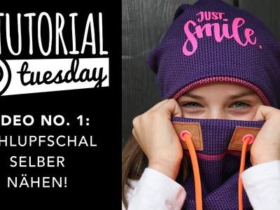 Tutorial Tuesday: Schlupfschal selber nähen