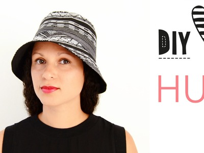 Hut nähen - Bucket Hat mit Schnittmuster. DIY MODE Nähanleitung
