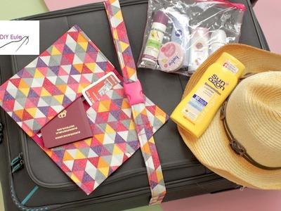 Reise-Set nähen: Kofferband, Flüssigkeitenbeutel & Reisepasshülle  - DIY Eule
