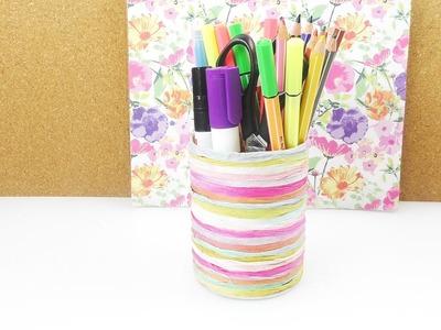 DIY Stiftebecher | Tolle sommerliche Schreibtisch Aufbewahrung | Papier oder Wolle | Creativ Paper