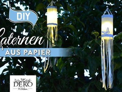 DIY: hübsche Papier-Laternen mit Stoffbändern [How to]   Deko Kitchen