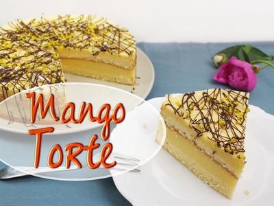 MANGO JOGHURT TORTE backen | fruchtige Torte mit Mango Füllung selber machen | ohne Gelatine