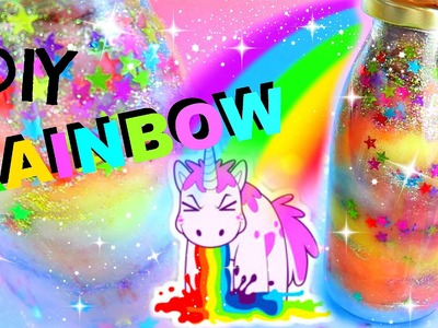DIY GLITZER-EINHORNKOTZE IN DER FLASCHE I RAINBOW IN A JAR I PatDIY