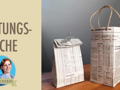 Tüten aus Zeitungspapier I Papiertüten I DIY