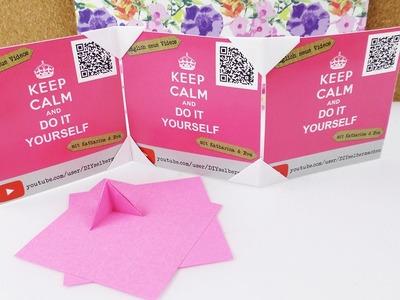 DIY Fotoecke falten | Super einfache Origami Idee für Schreibtisch & Zimmerdeko | Foto Aufsteller